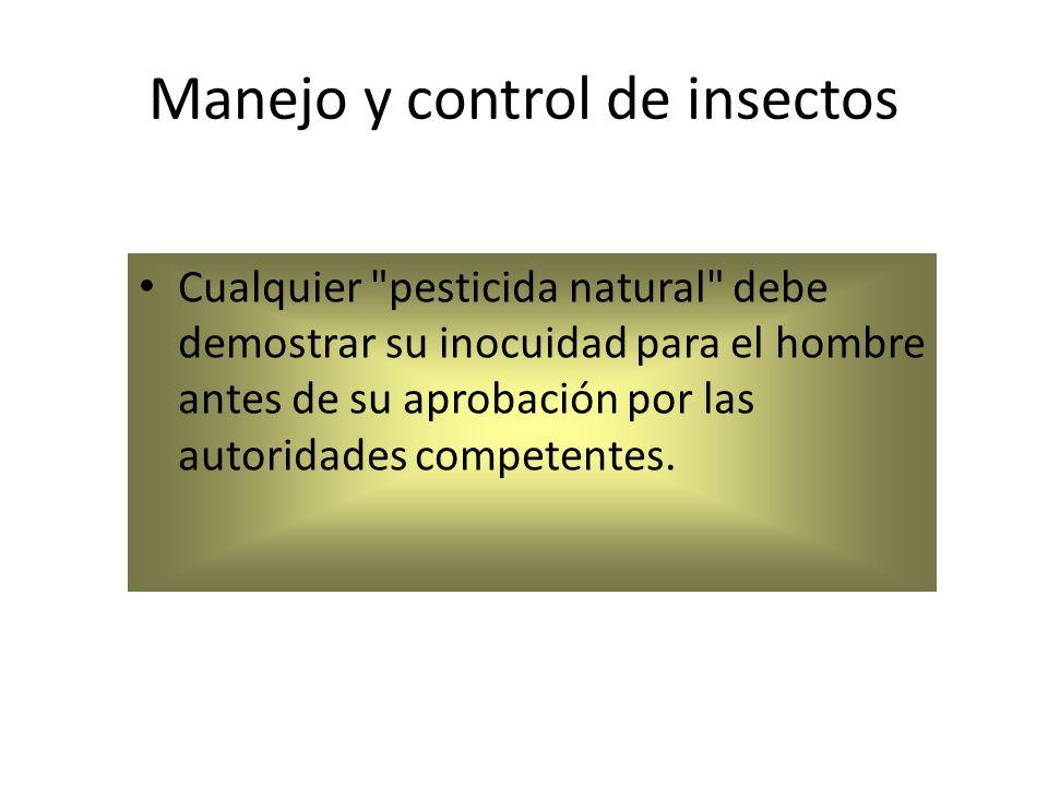 Manejo y control de insectos Cualquier