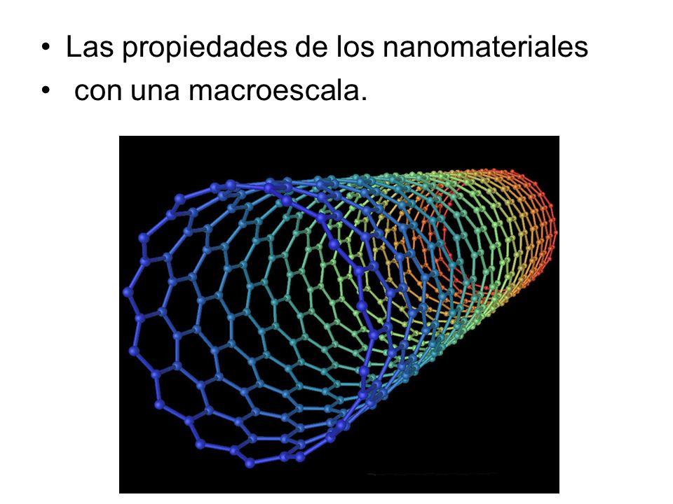 Las propiedades de los nanomateriales con una macroescala.
