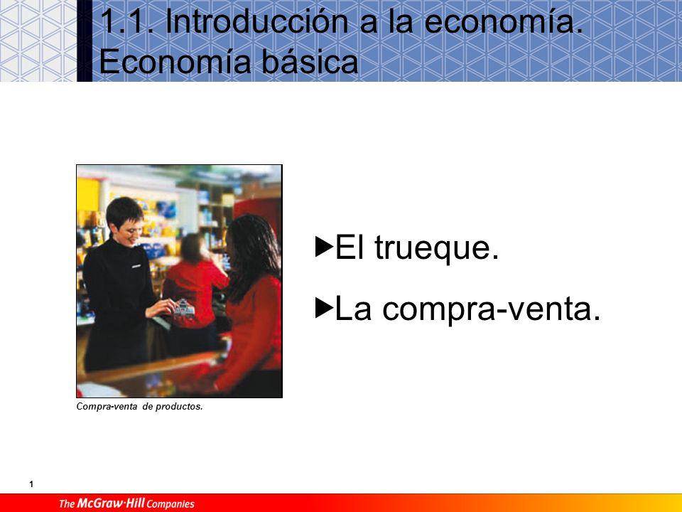 1 1.1.Introducción a la economía. Economía básica Compra-venta de productos.