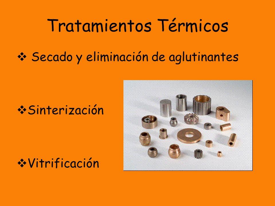 Tratamientos Térmicos Secado y eliminación de aglutinantes Sinterización Vitrificación
