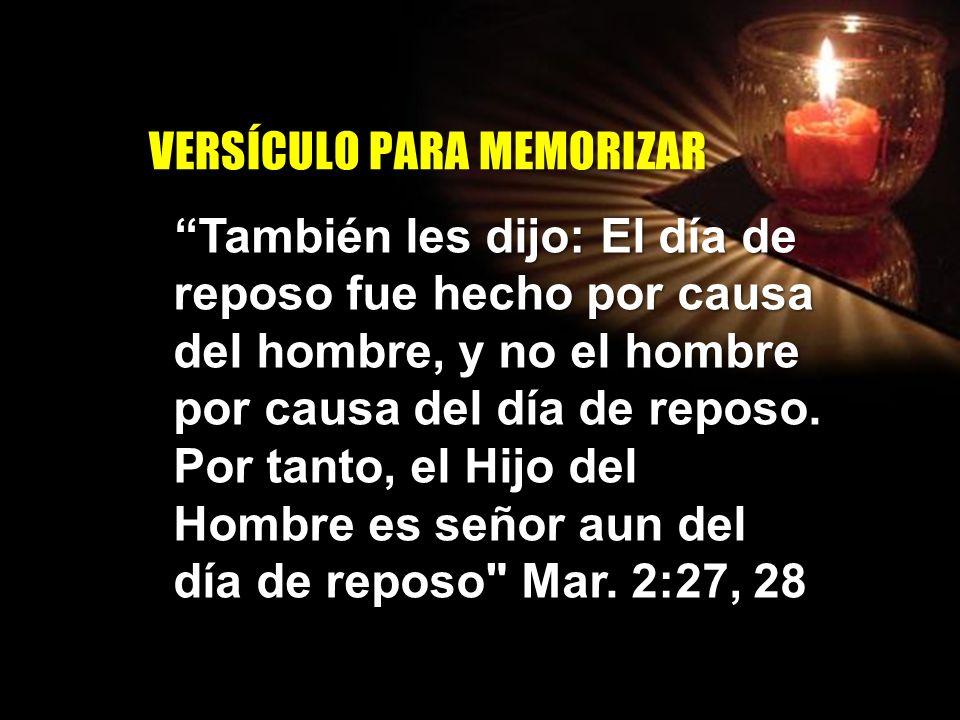 INTRODUCCION El sábado no es un fin en sí mismo, está diseñado con el fin de ser una bendición para el hombre: un día de descanso físico y un día dedicado a ejercicios espirituales.