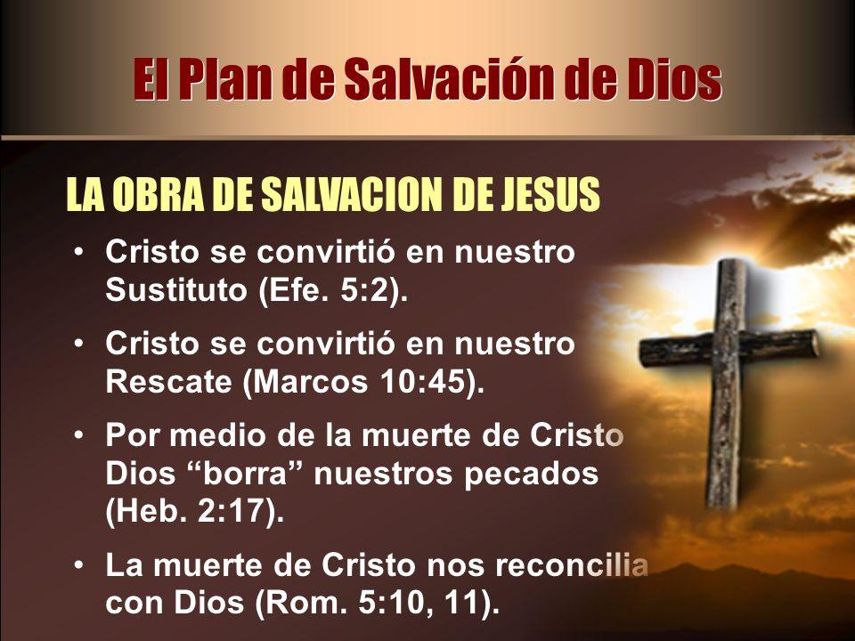 Cristo se convirtió en nuestro Sustituto (Efe. 5:2). Cristo se convirtió en nuestro Rescate (Marcos 10:45). Por medio de la muerte de Cristo Dios borr