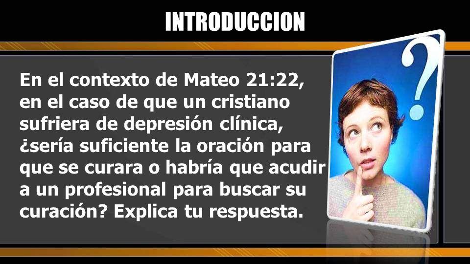 El propósito de la lección es saber qué es la depresión y cómo puede ser curada INTRODUCCION