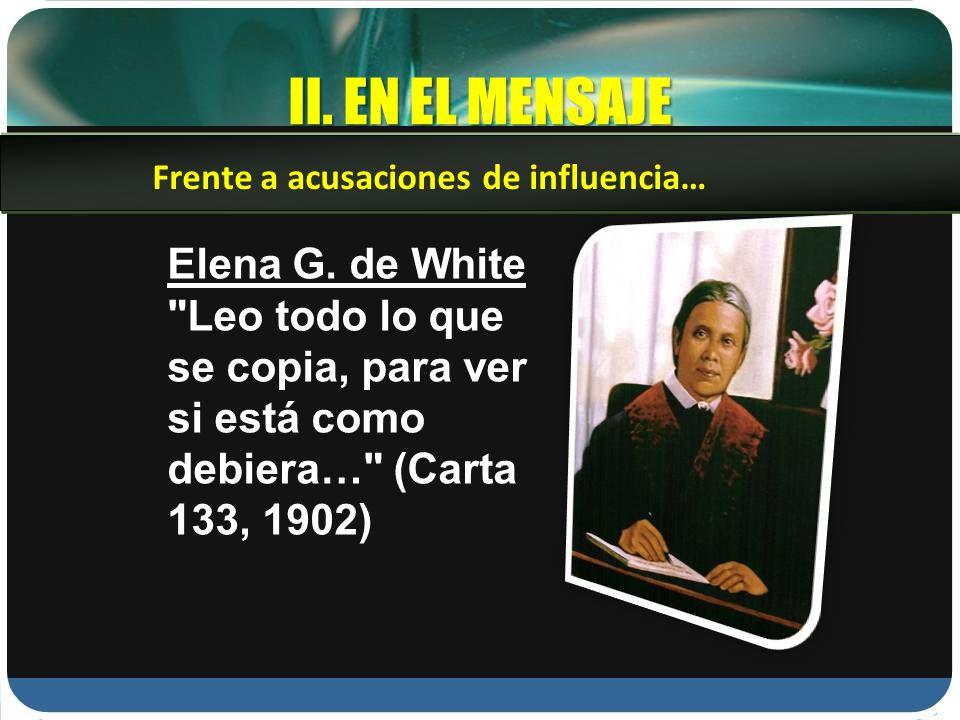 II.EN EL MENSAJE Elena G.