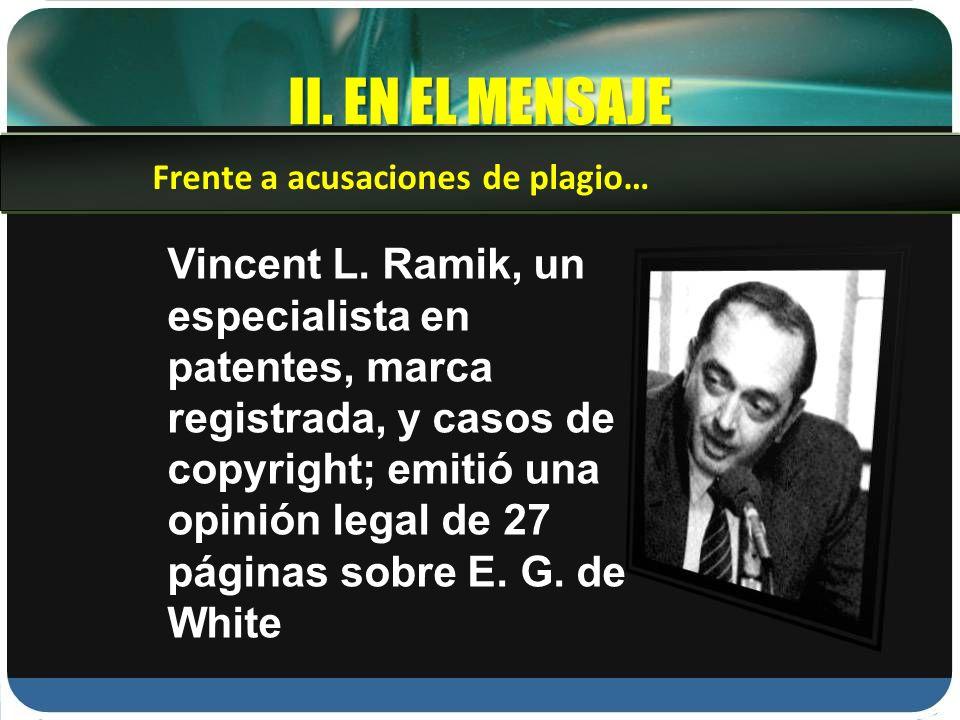 II.EN EL MENSAJE Vincent L.