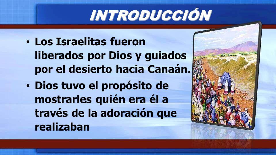 Los Israelitas fueron liberados por Dios y guiados por el desierto hacia Canaán. Dios tuvo el propósito de mostrarles quién era él a través de la ador