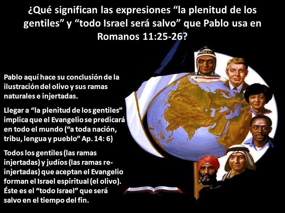 ¿Qué significan las expresiones la plenitud de los gentiles y todo Israel será salvo que Pablo usa en Romanos 11:25-26? Pablo aquí hace su conclusión