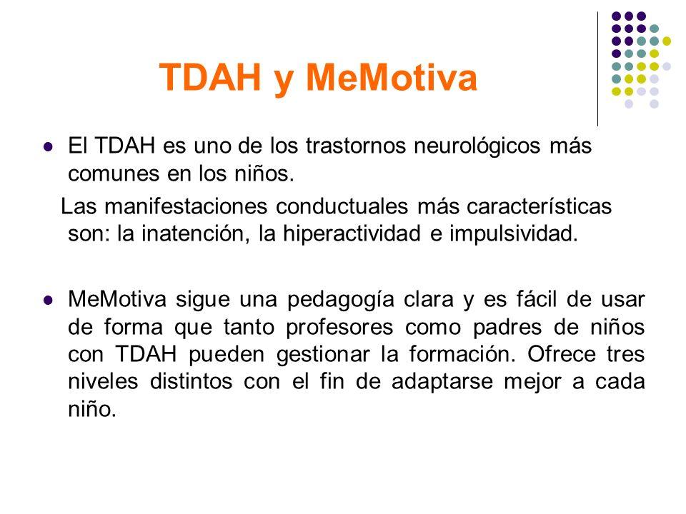 TDAH y MeMotiva El TDAH es uno de los trastornos neurológicos más comunes en los niños. Las manifestaciones conductuales más características son: la i