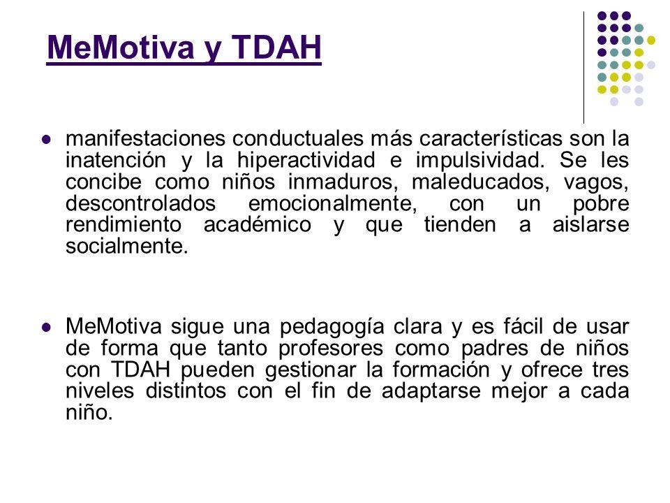 MeMotiva y TDAH manifestaciones conductuales más características son la inatención y la hiperactividad e impulsividad. Se les concibe como niños inmad