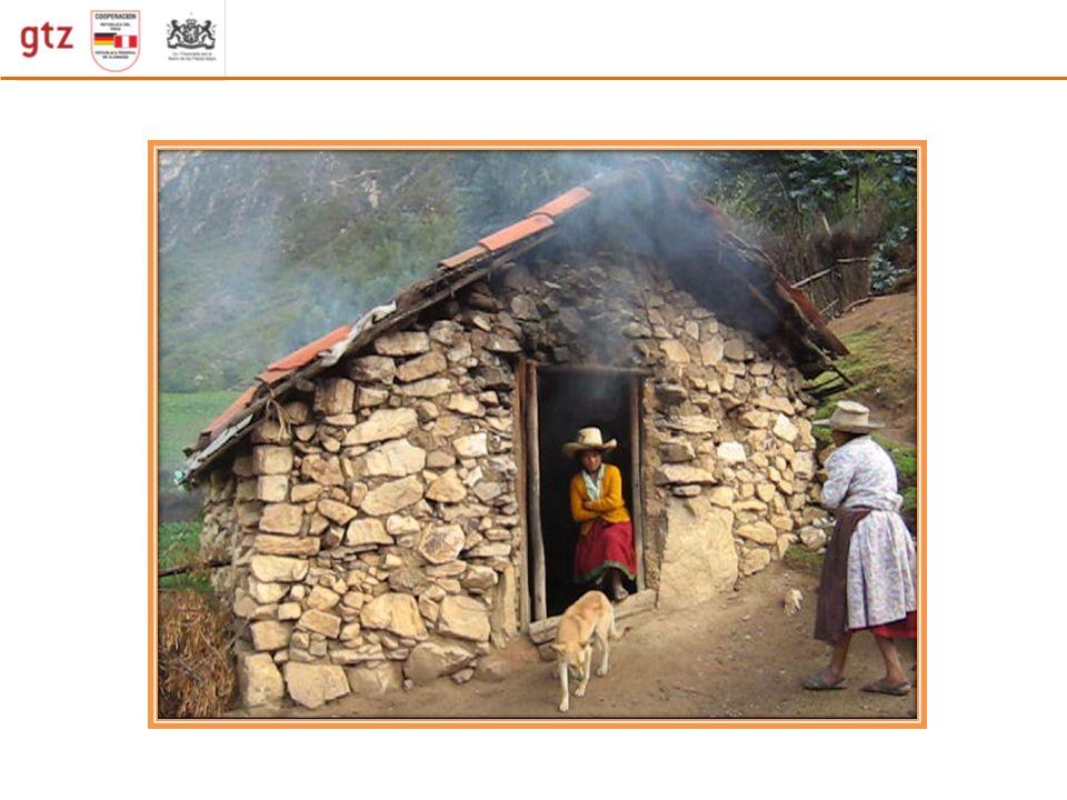Situación del consumo de biomasa La combustión de biomasa y las emisiones de humo El fogón tiene poca eficiencia energética usa solo del 10 al 15 % de la energía almacenada La combustión es incompleta e incontrolada Usa mayor cantidad de leña Emite gran cantidad de partículas(PM) y gases(CO) contaminantes El fogón tiene poca eficiencia energética usa solo del 10 al 15 % de la energía almacenada La combustión es incompleta e incontrolada Usa mayor cantidad de leña Emite gran cantidad de partículas(PM) y gases(CO) contaminantes