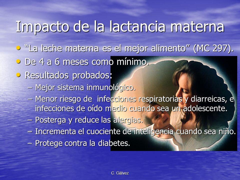 C. Gálvez Importancia del Peso del Niño al Nacer La futura madre a menos que tenga una abundante provision de alimentos nutritivos… priva a su hijo de