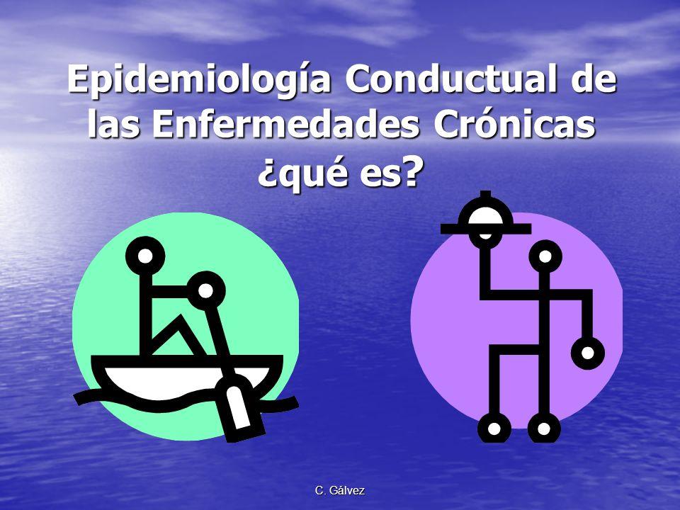C.Gálvez Epidemiología Conductual de las Enfermedades Crónicas ¿qué es .