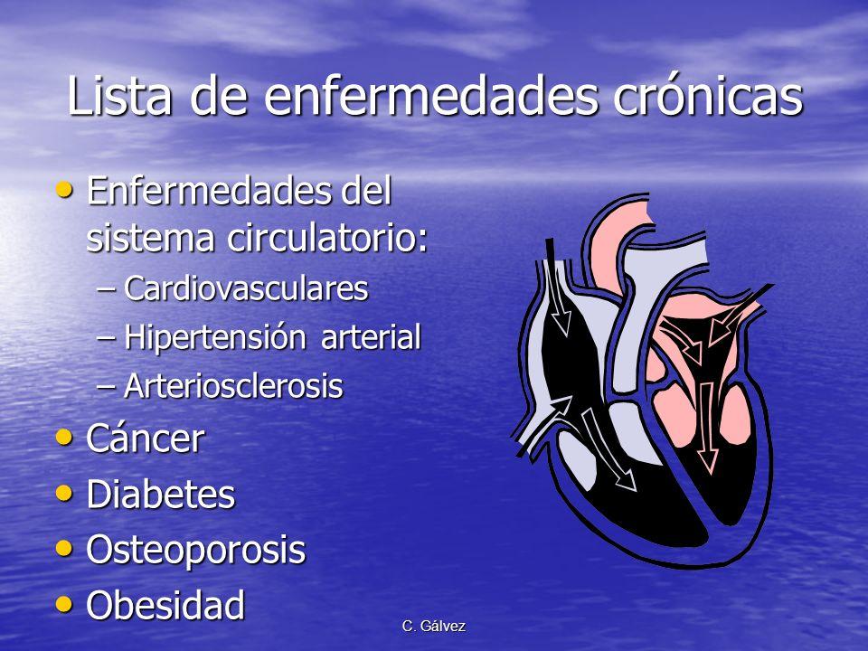 C. Gálvez Para entender, primero conozcamos… las enfermedades crónicas Son las nuevas epidemias del nuevo siglo y nuevo milenio.