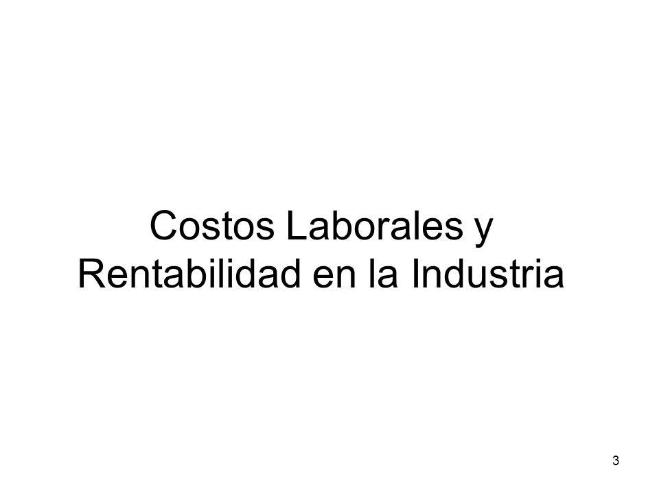 3 Costos Laborales y Rentabilidad en la Industria