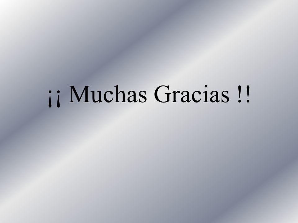 ¡¡ Muchas Gracias !!