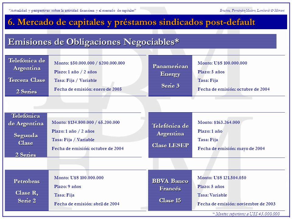 6. Mercado de capitales y préstamos sindicados post-default Bruchou, Fernández Madero, Lombardi & Mitrani Telefónica de Argentina Tercera Clase 2 Seri