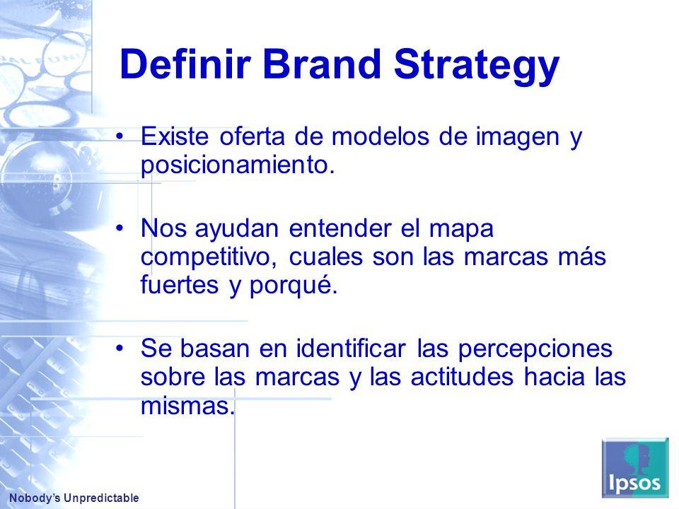 Nobodys Unpredictable Definir Brand Strategy Existe oferta de modelos de imagen y posicionamiento.