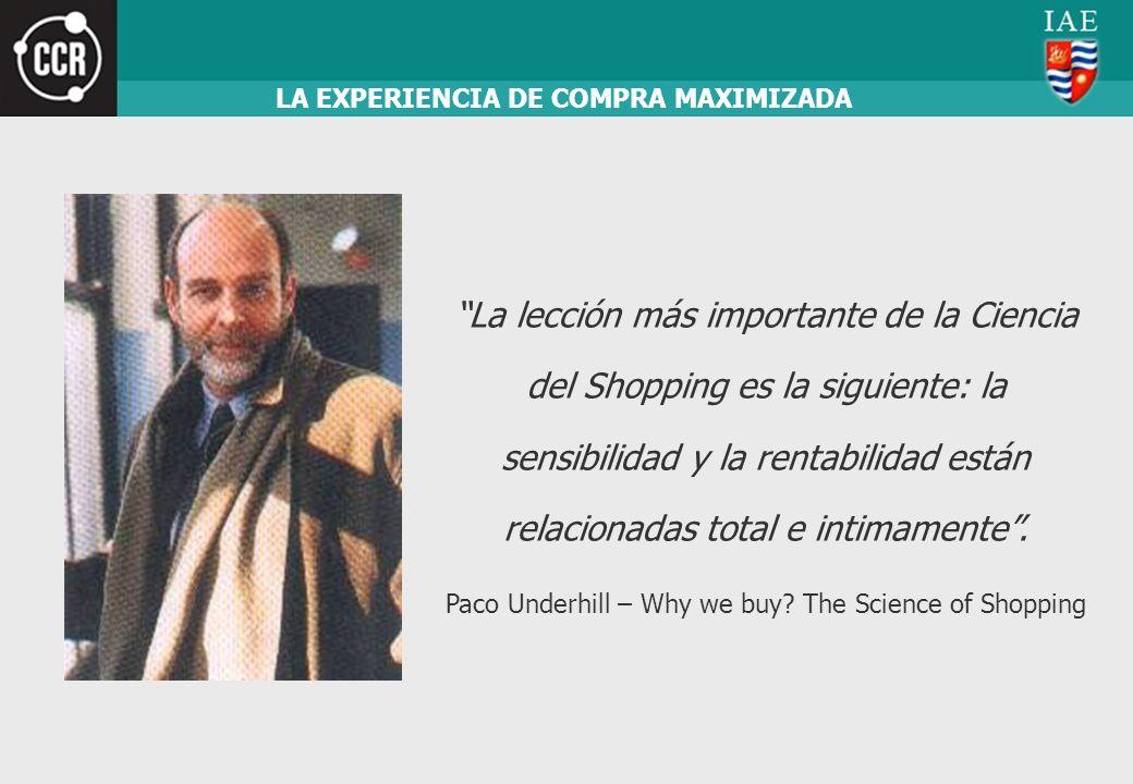 La lección más importante de la Ciencia del Shopping es la siguiente: la sensibilidad y la rentabilidad están relacionadas total e intimamente. Paco U