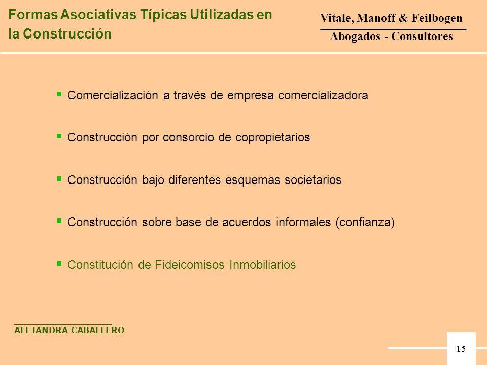 Comercialización a través de empresa comercializadora Construcción por consorcio de copropietarios Construcción bajo diferentes esquemas societarios C