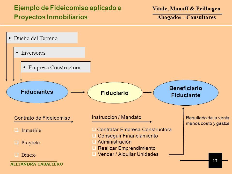 Contrato de Fideicomiso Inmueble Proyecto Dinero Fiduciantes Instrucción / Mandato Contratar Empresa Constructora Conseguir Financiamiento Administrac