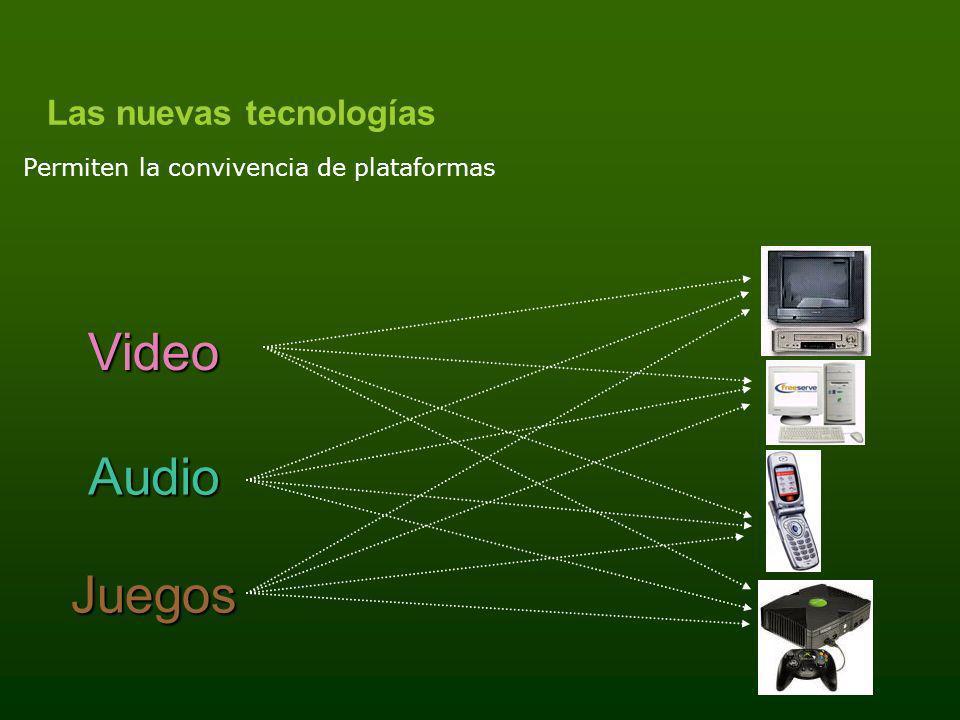 Las nuevas tecnologías Video Audio Juegos Permiten la convivencia de plataformas