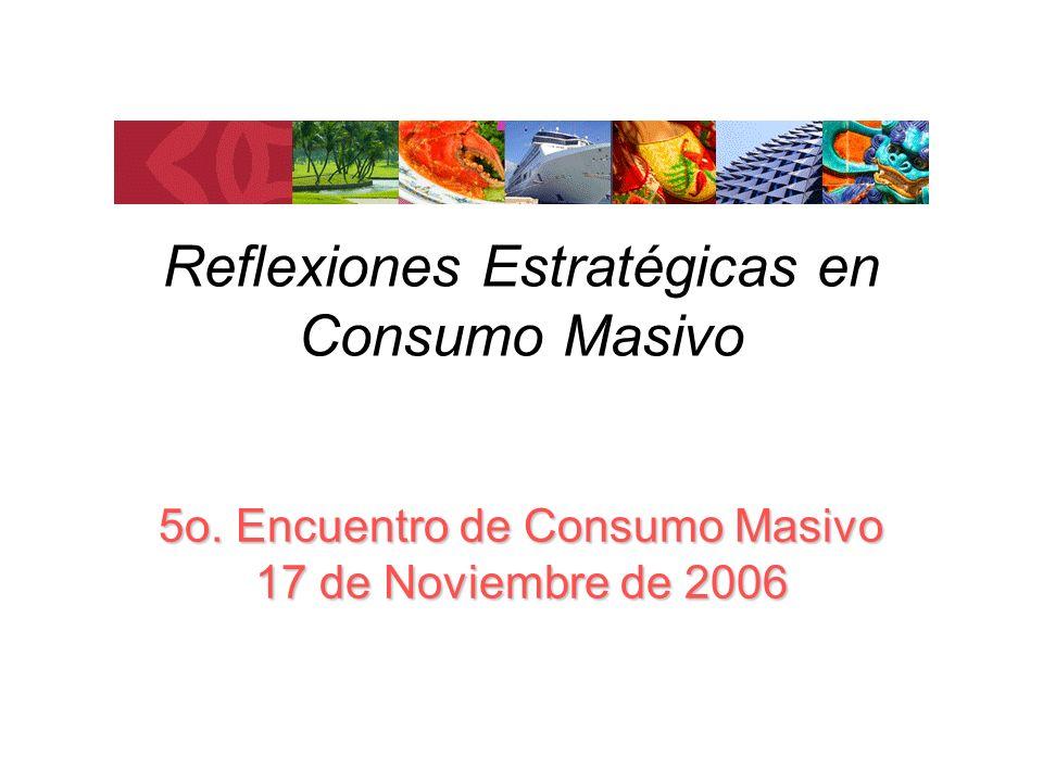 Reflexiones Estratégicas en Consumo Masivo 5o. Encuentro de Consumo Masivo 17 de Noviembre de 2006