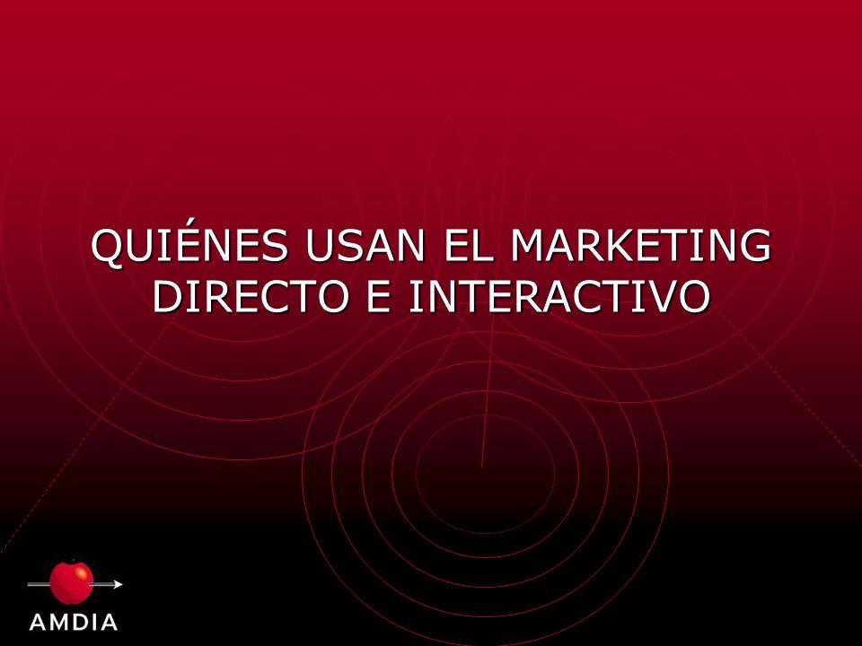 QUIÉNES USAN EL MARKETING DIRECTO E INTERACTIVO
