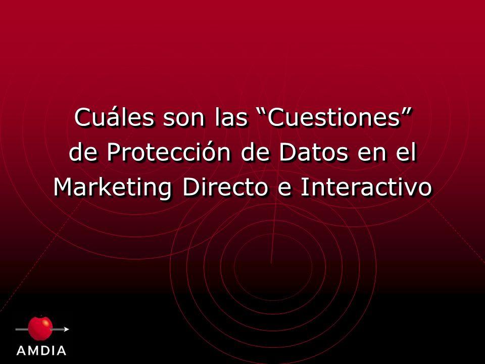 Cuáles son las Cuestiones de Protección de Datos en el Marketing Directo e Interactivo