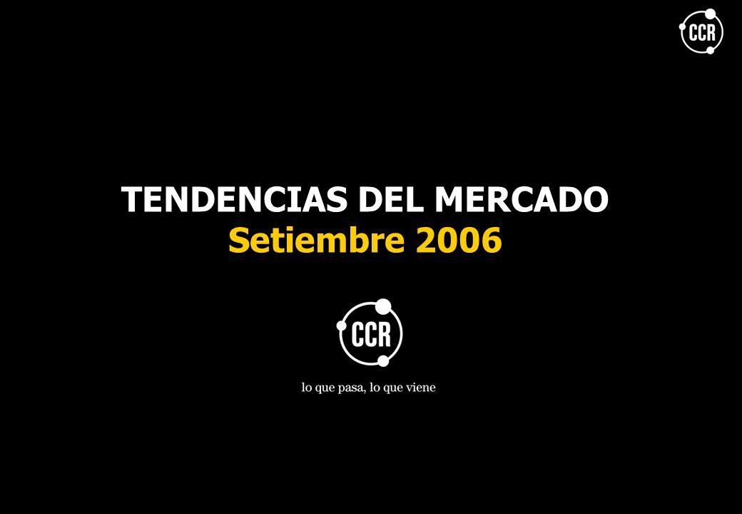 TENDENCIAS DEL MERCADO Setiembre 2006