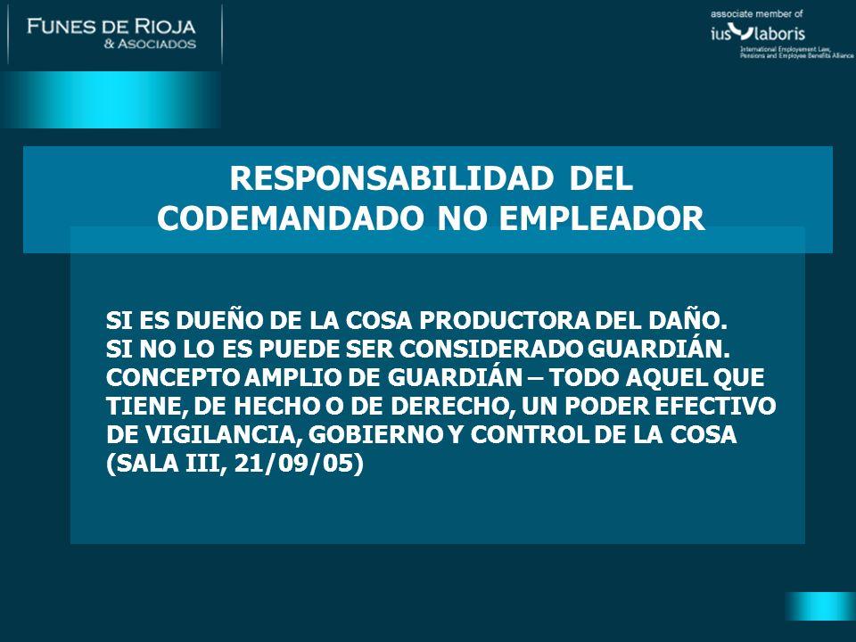 NO HAY RESPONSABILIDAD CIVIL EN LOS TÉRMINOS DEL ART.