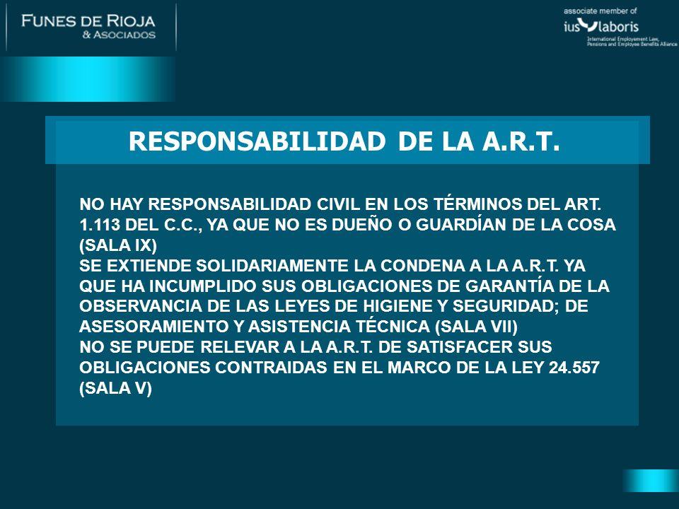CORRECCIÓN DE ERRORES DE DERECHO 1)SUPUESTOS: ACCIONES QUE RECLAMAN AL EMPLEADOR PRESTACIONES DE LA L.R.T.