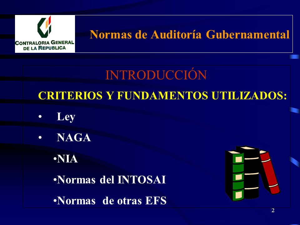 1 Contraloría General de la República Normas de Auditoría Gubernamental CPC MAGLORIO ACEVEDO MARZANO