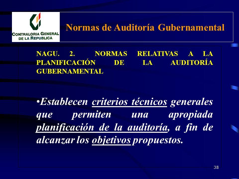 37 NAGU. 1. NORMAS GENERALES 1.60 Control de Calidad Control de calidad Externo: a) CGR adopta políticas y procedimientos para control de calidad de e