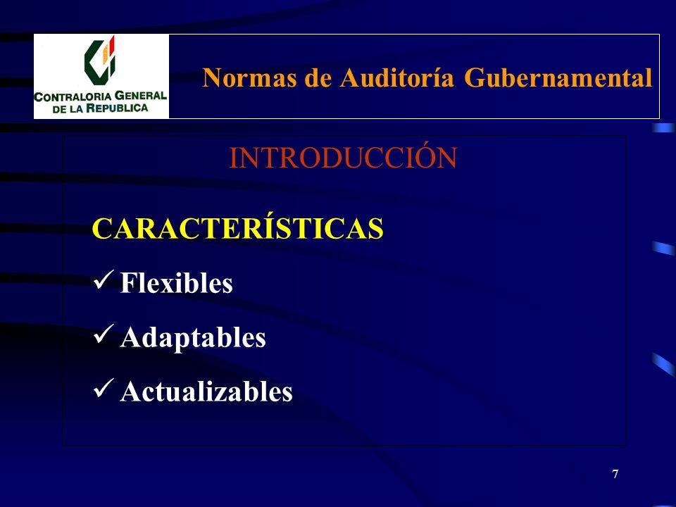 NORMAS DE AUDITORIA GUBERNAMENTAL - NAGU ALCANCE Aplicación y Cumplimiento obligatorio AUDITORES: CGR OCI SOA designados Profesionales y Especialistas