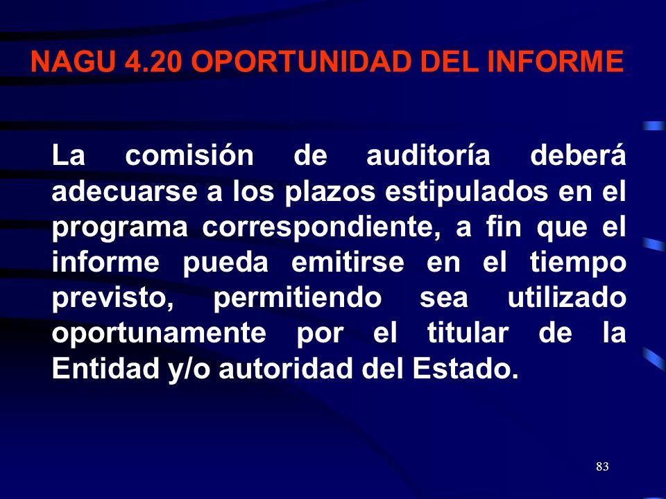 82 El informe es el documento escrito mediante el cual la comisión de auditoría expone el resultado final de su trabajo. Con la finalidad de brindar s