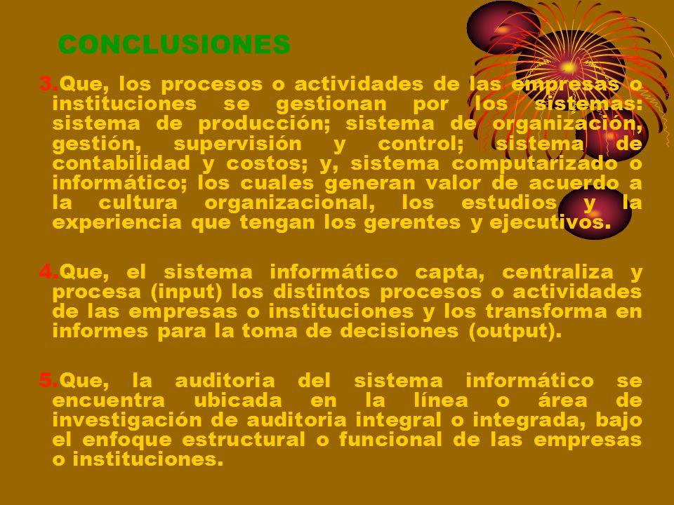 VI.-CONCLUSIONES 1.Que, las empresas e instituciones hoy en día se conciben bajo el enfoque de cosmovisión o curva de la vida económica, concepción gl