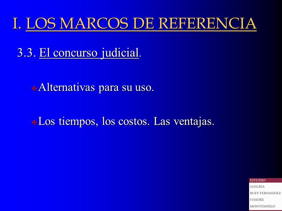 3.3. El concurso judicial. Alternativas para su uso.