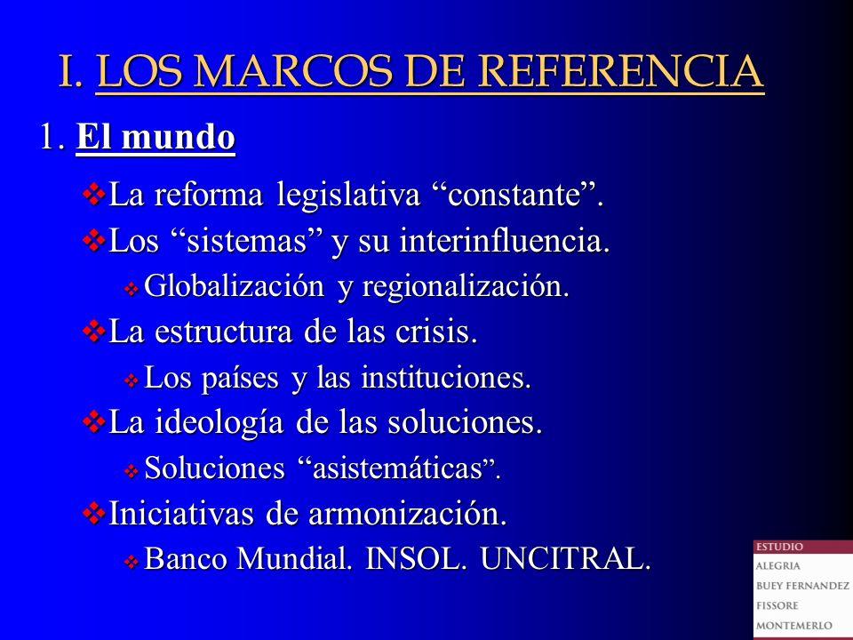 I. LOS MARCOS DE REFERENCIA 1. El mundo La reforma legislativa constante.