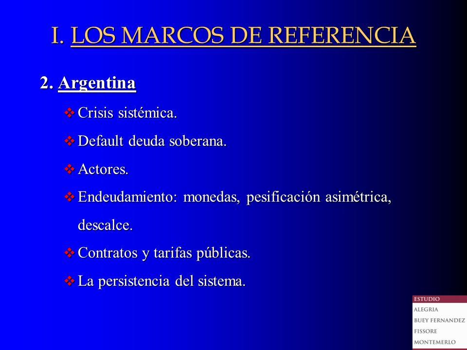 2. Argentina v Crisis sistémica. v Default deuda soberana.