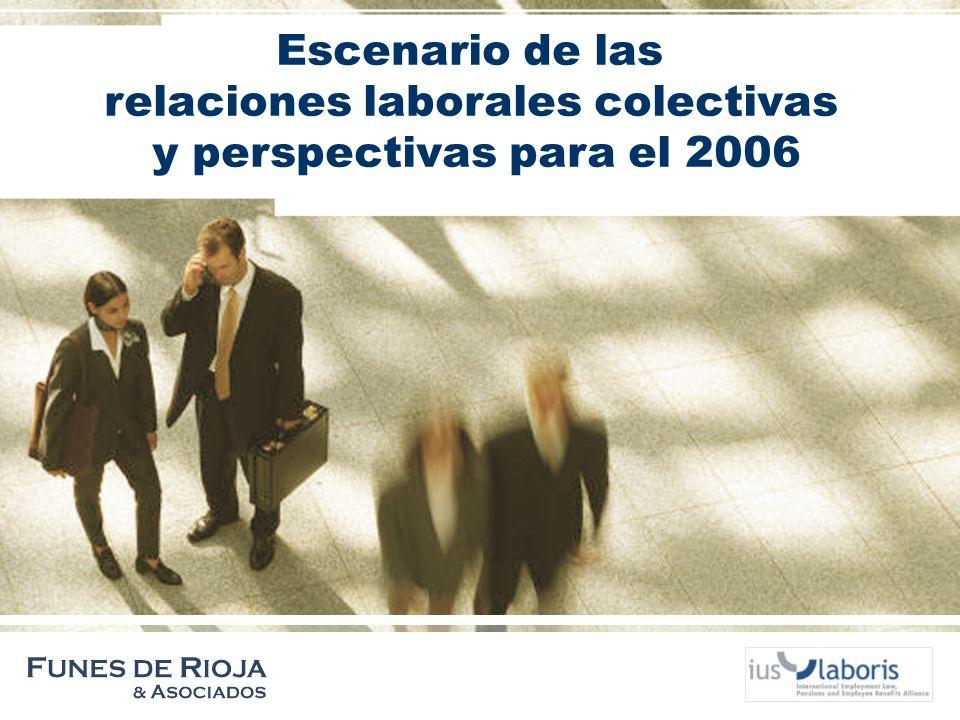 Escenario de las relaciones laborales colectivas y perspectivas para el 2006