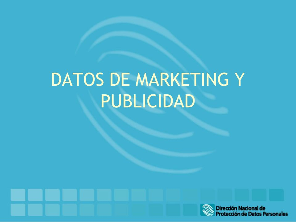 DATOS DE MARKETING Y PUBLICIDAD