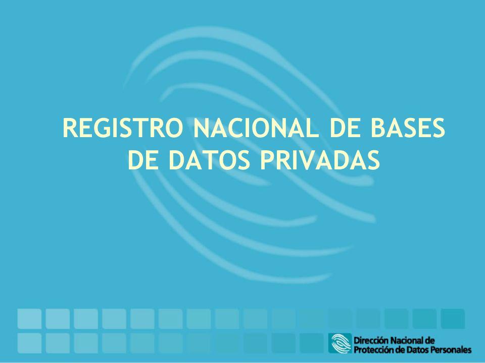 REGISTRO NACIONAL DE BASES DE DATOS PRIVADAS