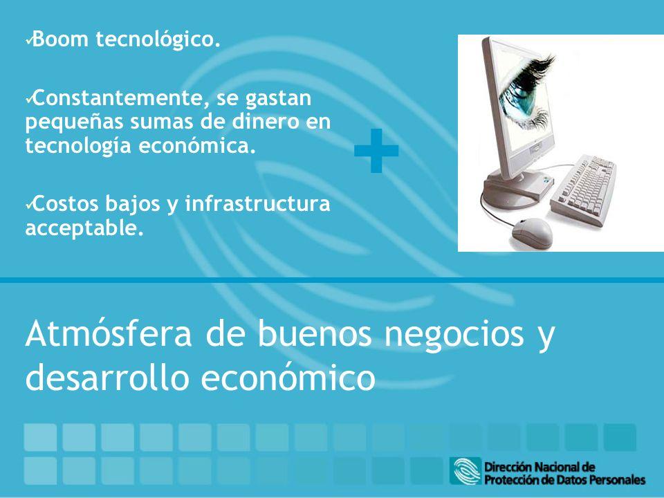 + Boom tecnológico.Constantemente, se gastan pequeñas sumas de dinero en tecnología económica.