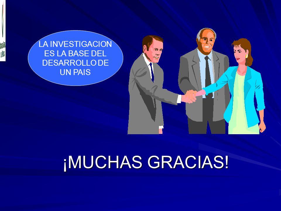 ¡MUCHAS GRACIAS! Maglorio Acevedo Marzano LA INVESTIGACION ES LA BASE DEL DESARROLLO DE UN PAIS