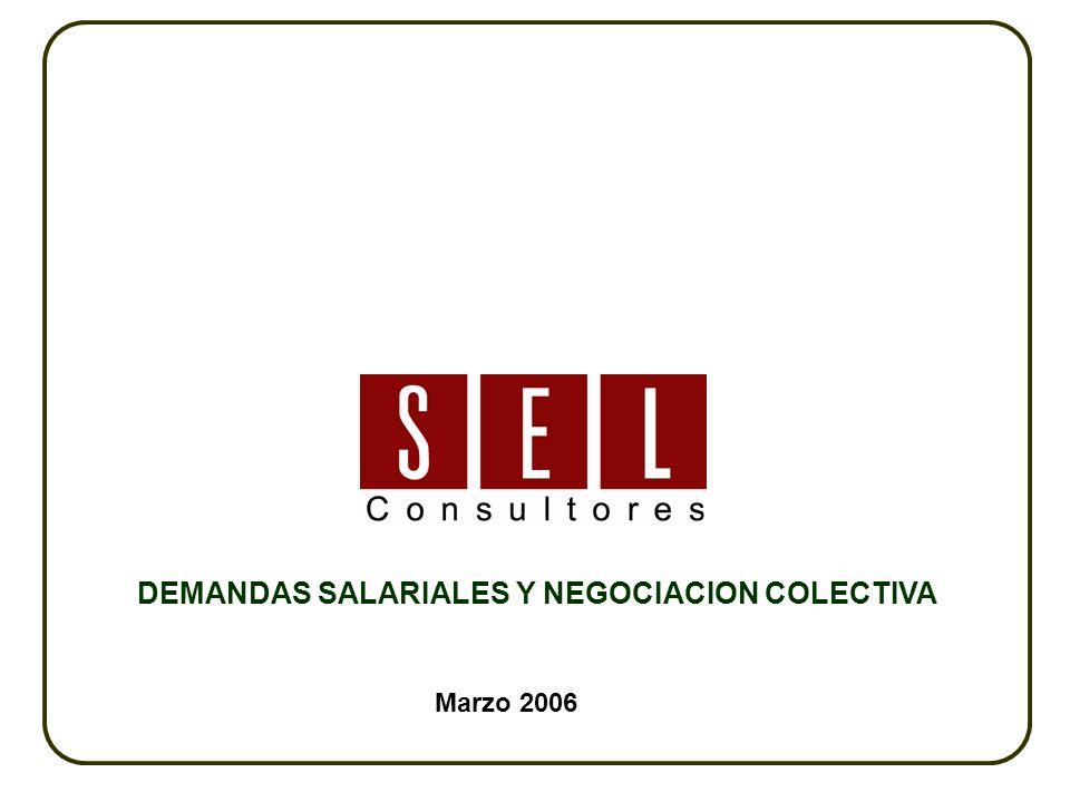 Marzo 2006 DEMANDAS SALARIALES Y NEGOCIACION COLECTIVA