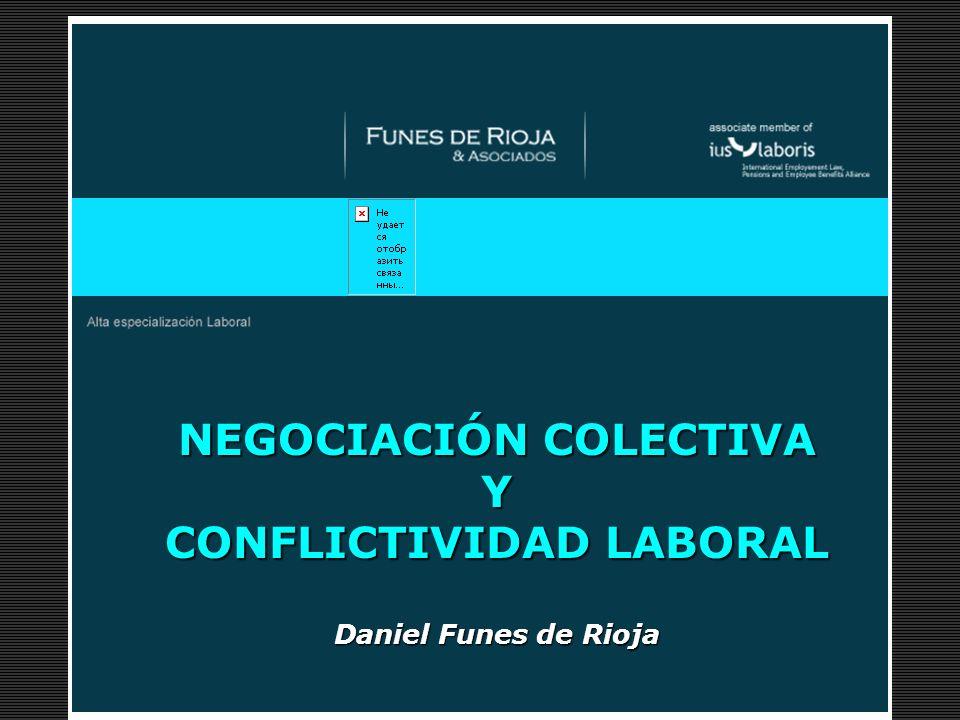 Desayuno de Trabajo NEGOCIACIÓN COLECTIVA Y CONFLICTIVIDAD LABORAL Daniel Funes de Rioja