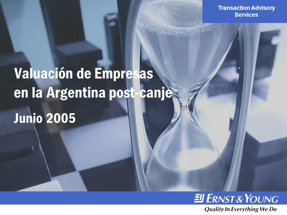 Transaction Advisory Services Valuación de Empresas en la Argentina post-canje Junio 2005