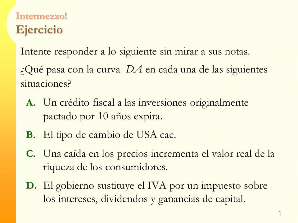 Introducción a la Economía Oferta y Demanda Agregadas Profesor: Carlos R. Pitta Introducción a la Economía, Prof. Carlos R. Pitta, Universidad Austral