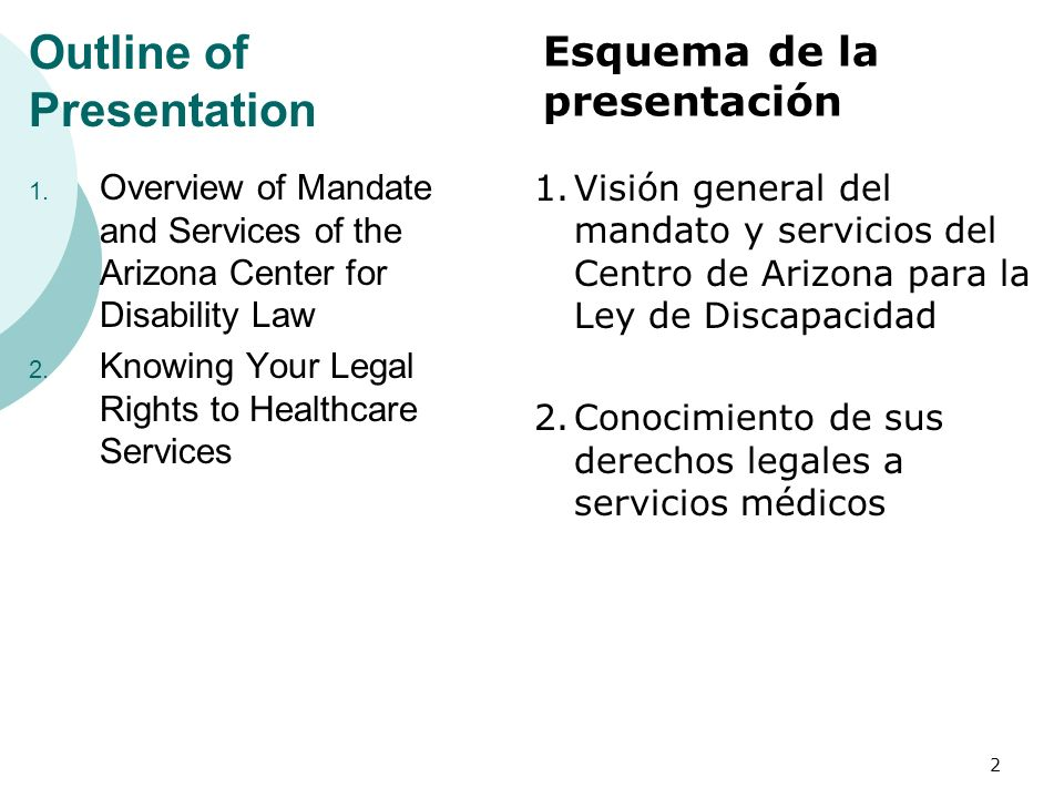 Knowing Your Legal Rights to Health Care Services What Services are Available in Each Program.