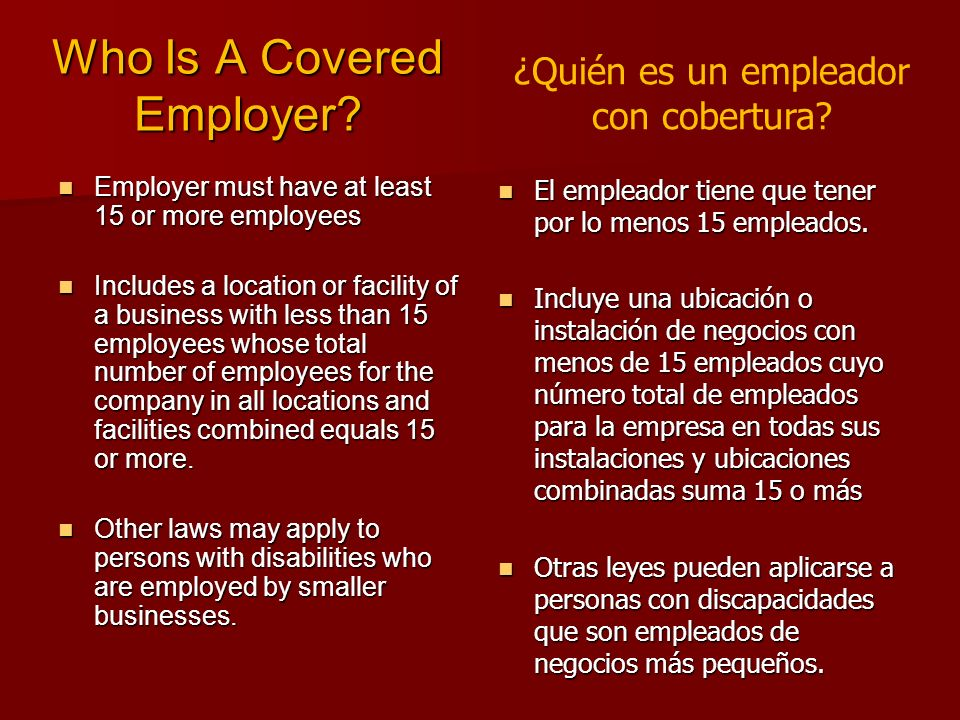 Who Is A Covered Employer.